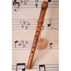 Soprano recorder with little key